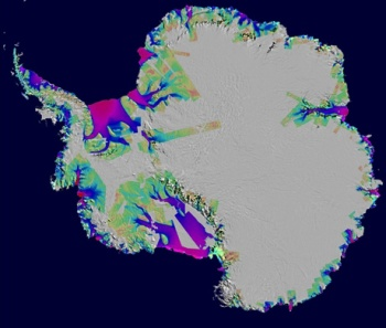 Antarctica, Ice loss 1996-2006
