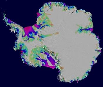 Antarctica, Ice loss 1996-2006