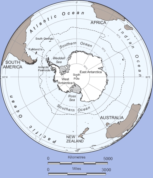Contextual map of Antarctica