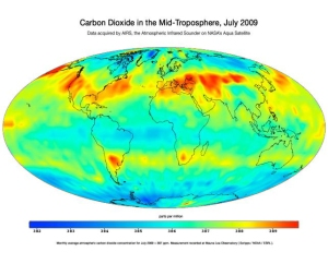 Atmospheric CO2 Concentration - July 2009