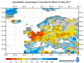 Dry Conditions in Europe