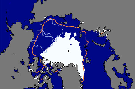 Arctic Sea Ice Watch (Sep 9): 3.50 mil sq km (Previous record low for this date was 4.28 mil sq km)